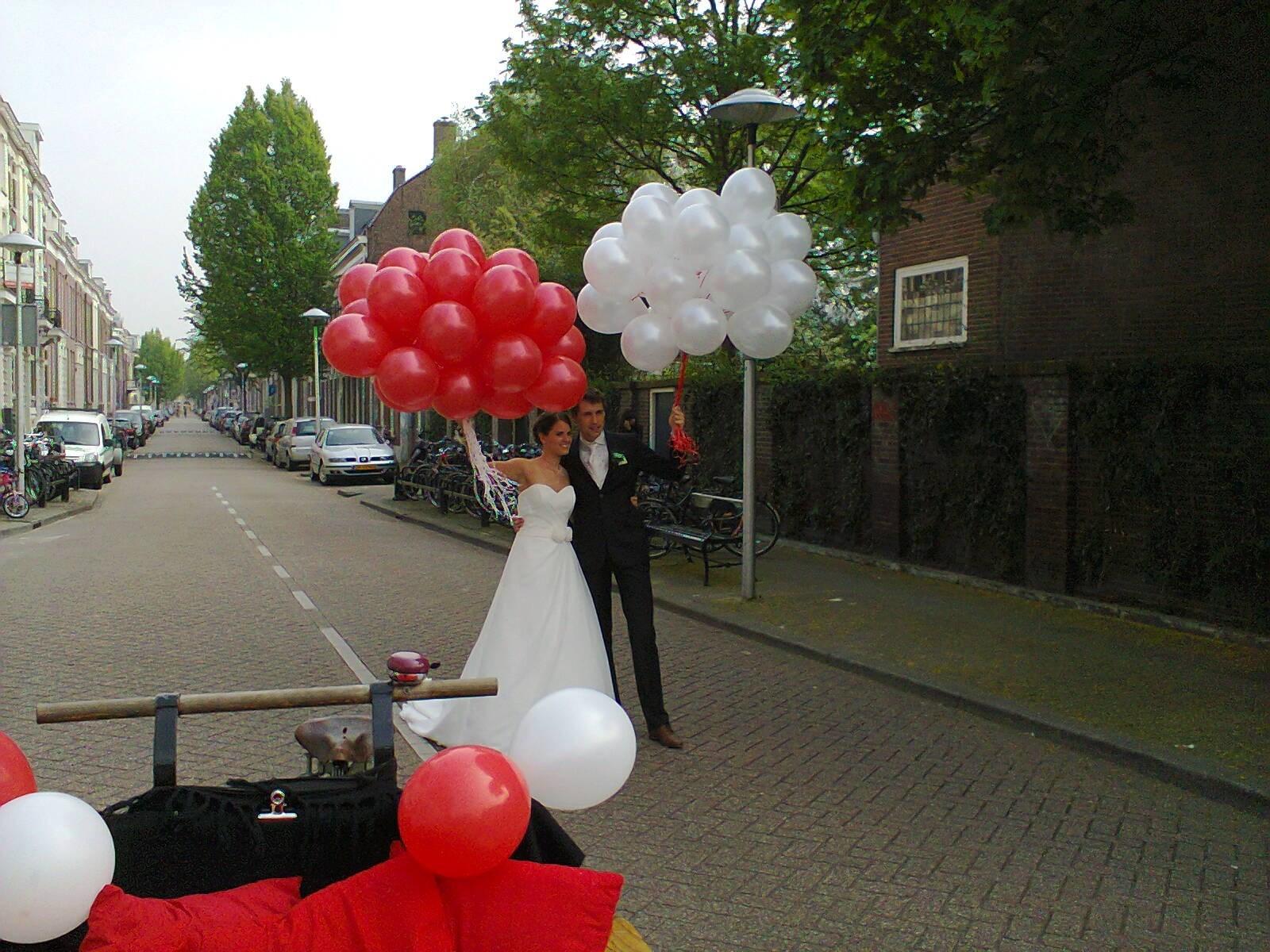 ballonnen huwelijk