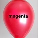 ballon magenta metallic