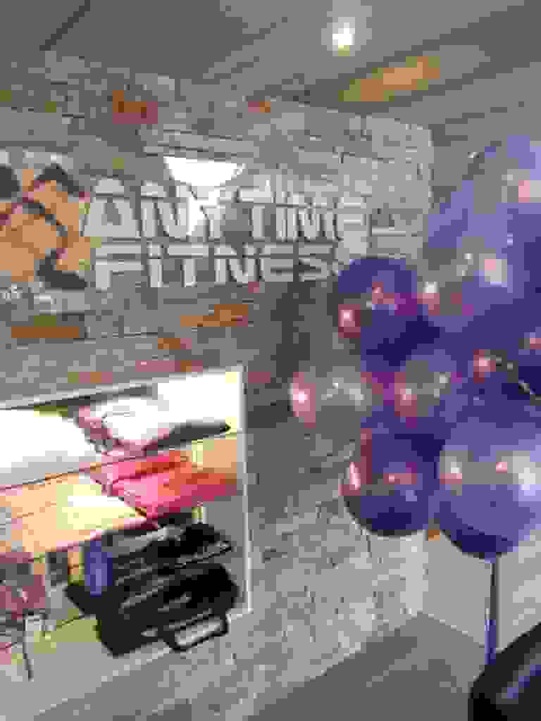 ballon decoratie helium ballon trossen AnyTime Fitness